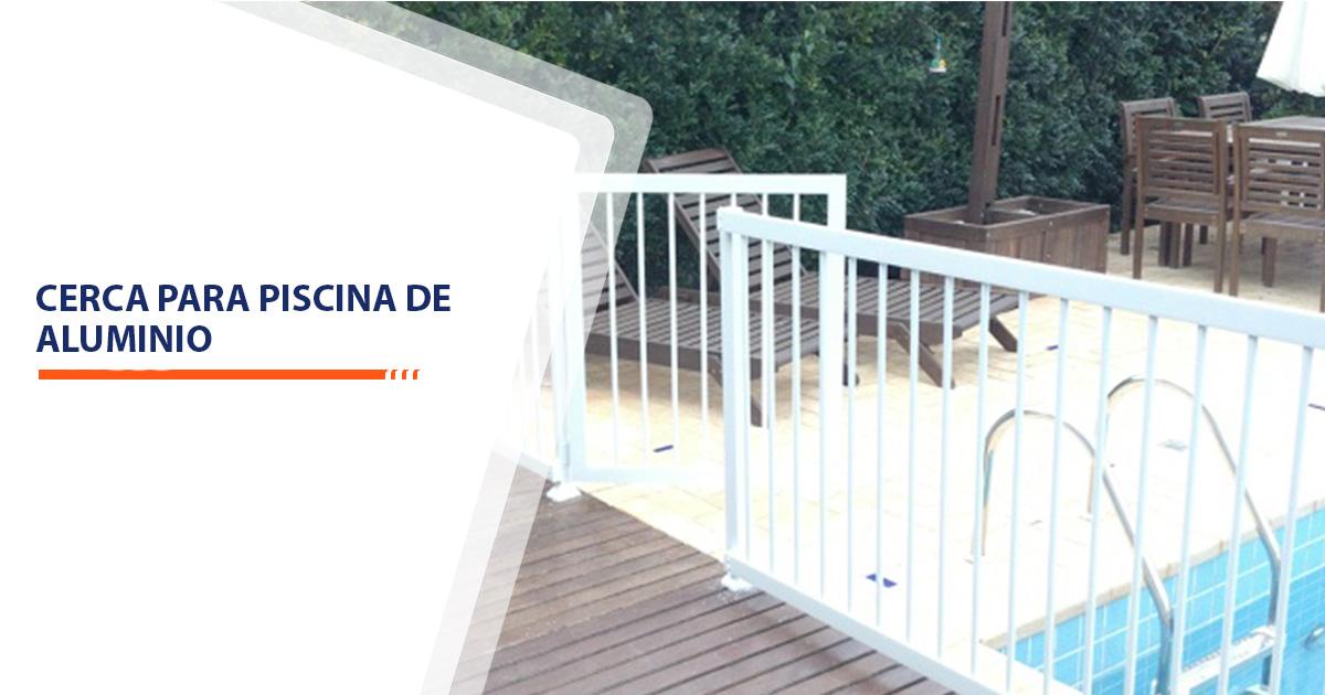cerca para piscina de aluminio Santos