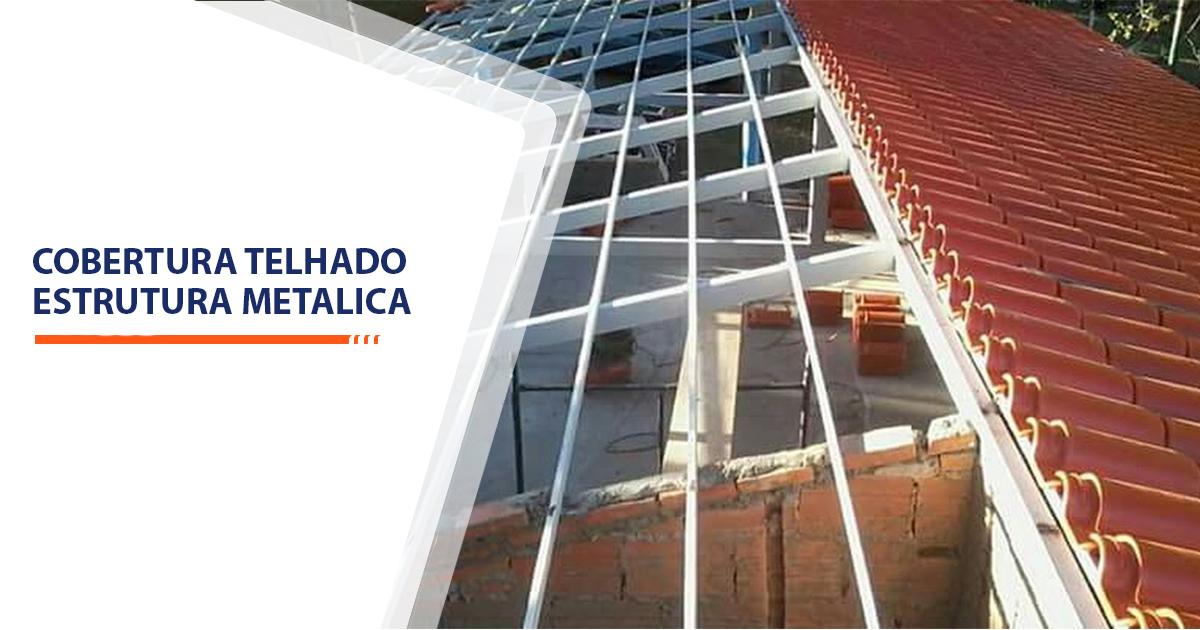 cobertura telhado estrutura metalica Santos