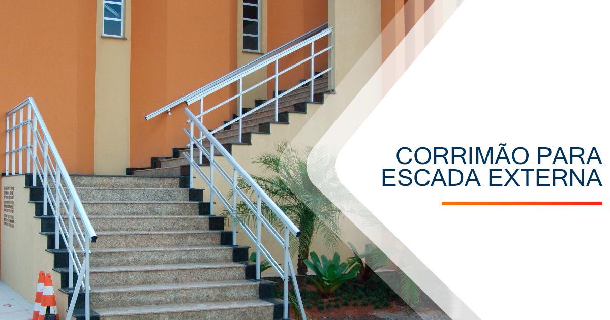 Corrimão para Escada Externa Santos