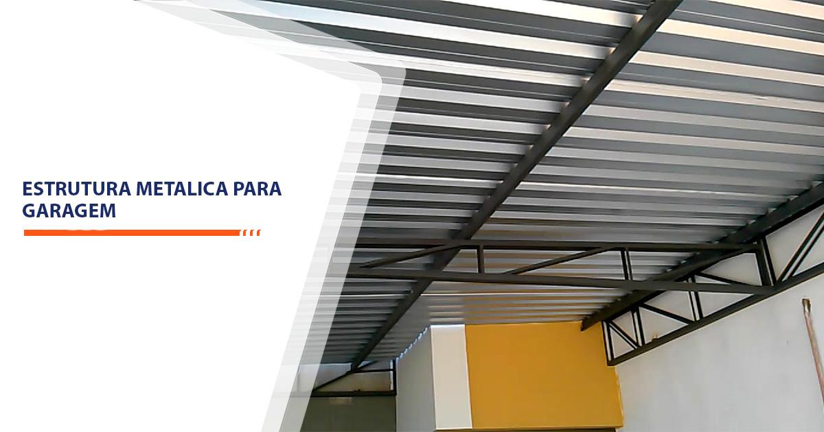 Estrutura metalica para garagem Santos