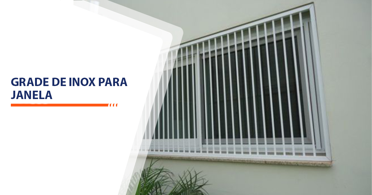 Grade de inox para janela Santos