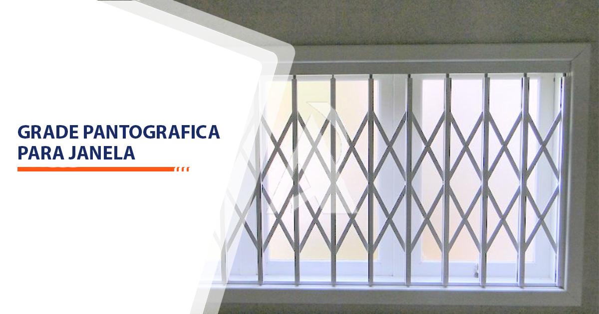 Grade pantografica para janela Santos