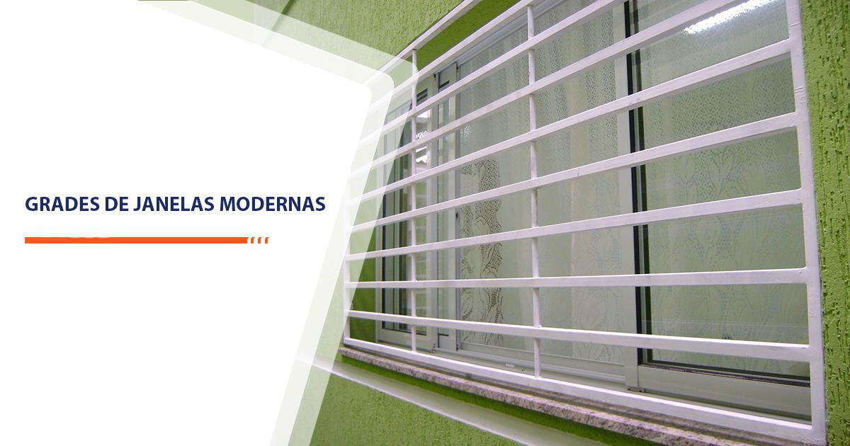 Grades de janelas modernas Santos
