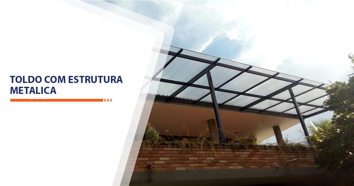 Toldo com estrutura metalica Santos